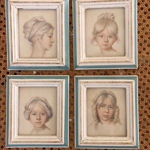 Vintage group of prints girls made in Italy